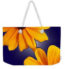 Black-eyed Susans On Blue Weekender Tote Bag