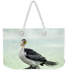 black faced Cormorant 02 Weekender Tote Bag