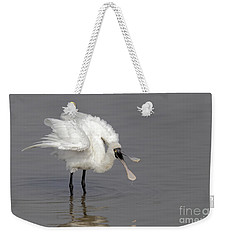 Black-faced Spoonbill Weekender Tote Bag by Martin Hale/FLPA