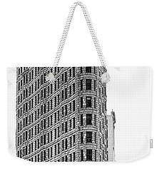 Black Flatiron Building II Weekender Tote Bag