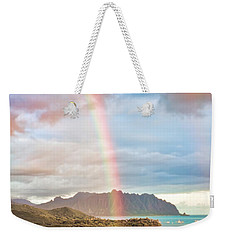 Black Friday Rainbow Weekender Tote Bag by Dan McManus