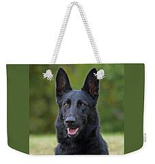 Black German Shepherd Dog Weekender Tote Bag