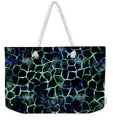Black Giraffe Print Weekender Tote Bag