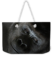 Black Gorilla Smile Weekender Tote Bag
