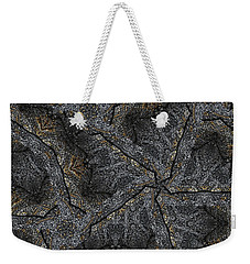Weekender Tote Bag featuring the photograph Black Granite Kaleido #1 by Peter J Sucy