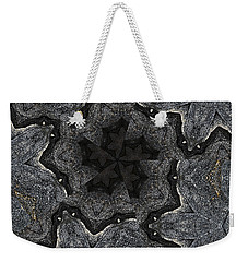 Weekender Tote Bag featuring the photograph Black Granite Kaleido #2 by Peter J Sucy