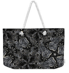 Weekender Tote Bag featuring the photograph Black Granite Kaleido 3 by Peter J Sucy