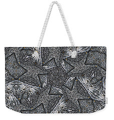 Weekender Tote Bag featuring the photograph Black Granite Kaleido #4 by Peter J Sucy