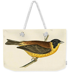 Black Headed Bunting Weekender Tote Bag by English School