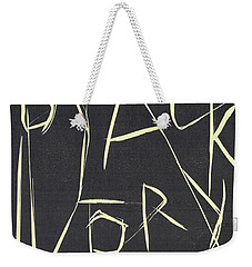 Black Ivory Title Page Weekender Tote Bag