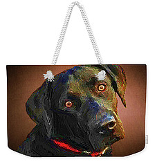 Black Lab Goes To The Studo Weekender Tote Bag by Joseph J Stevens