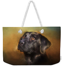 Black Lab Portrait 2 Weekender Tote Bag