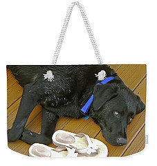 Black Lab Resting Weekender Tote Bag