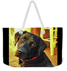 Black Lab Wants To Go For A Walk Weekender Tote Bag by Joseph J Stevens