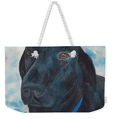 Black Labrador With Copper Eyes Portrait II Weekender Tote Bag