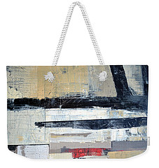 Black Lines Abstract Weekender Tote Bag