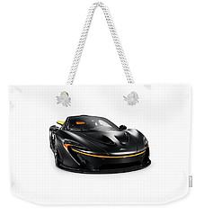 Black Mclaren P1 Plug-in Hybrid Supercar Sports Car Isolated Weekender Tote Bag