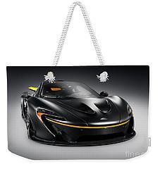 Black Mclaren P1 Plug-in Hybrid Supercar Sports Car Weekender Tote Bag