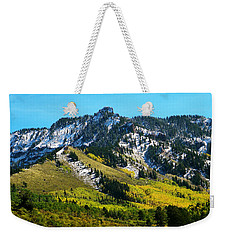 Black Mesa Rocky Peak In Autumn Weekender Tote Bag