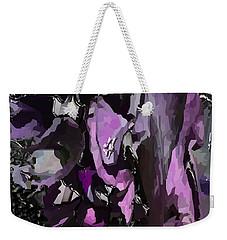 Black Metallic Orchid Weekender Tote Bag