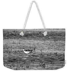 Black-necked Stilt Monochrome  Weekender Tote Bag