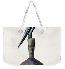 Black Necked Stork Stuffed Inside The Gilded Bottle Weekender Tote Bag