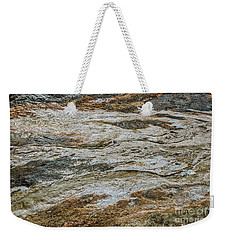 Weekender Tote Bag featuring the photograph Black Obsidian Sand And Other Textures by Sue Smith