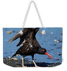 Black Oyster Catcher Weekender Tote Bag