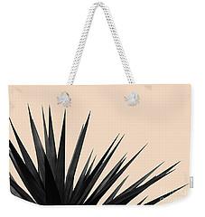 Black Palms On Pale Pink Weekender Tote Bag