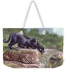 Black Panther And Jaguar Weekender Tote Bag