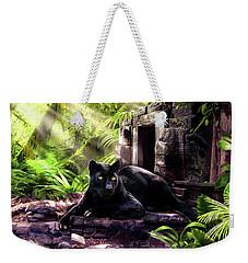 Black Panther Custodian Of Ancient Temple Ruins  Weekender Tote Bag