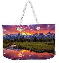 Black Ponds Sunset Weekender Tote Bag