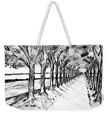 Black Promenada Weekender Tote Bag by Ramona Matei