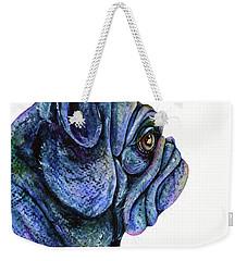 Black Pug Weekender Tote Bag
