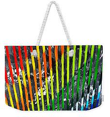 Black Rainbow Weekender Tote Bag