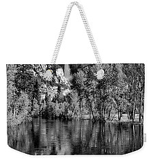 Black Reflections Yosmite Falls Weekender Tote Bag