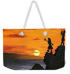 Weekender Tote Bag featuring the painting Black Rock Maui by Darice Machel McGuire