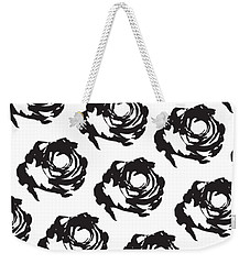 Black Rose Pattern Weekender Tote Bag