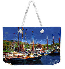 Black Sailboats Weekender Tote Bag
