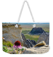 Black Sampson In The Badlands Weekender Tote Bag