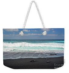 Black Sand Beach Weekender Tote Bag