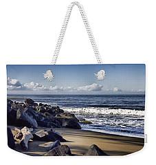 Black Sand Beach  Weekender Tote Bag by Douglas Barnard