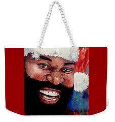 Black Santa Weekender Tote Bag