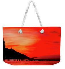 Black Sea Turned Red Weekender Tote Bag by Reksik004