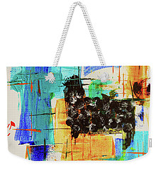 Weekender Tote Bag featuring the painting Black Sheep by Jeanette French