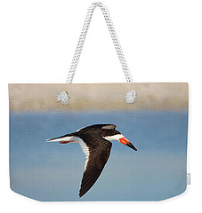 Black Skimmer In Flight Weekender Tote Bag