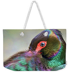 Black Stork Weekender Tote Bag by Nadia Sanowar