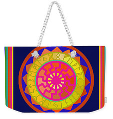 Black Sun Mandala Rune Calendar Weekender Tote Bag