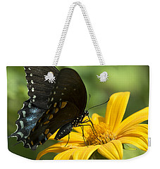 Black Swallowtail Drinking Weekender Tote Bag