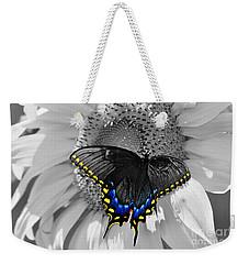 Black Swallowtail And Sunflower Color Splash Weekender Tote Bag